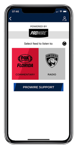 florida panthers and prowire sports app screenshot